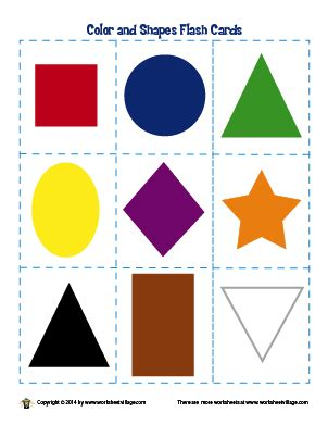 free printable shapes and colors flashcards colors and shapes flash cards