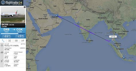 emirates jakarta emirates flight ek356 from dubai to jakarta just diverted