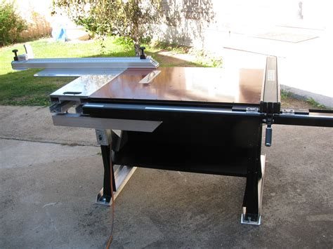 excalibur sliding table saw fence custom sliding tablesaw