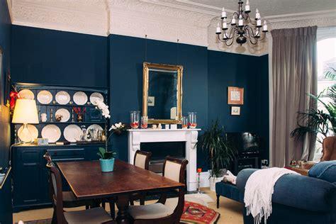 Small Living Room Paint Ideas alex s deep blue living room makeover ao life interiors