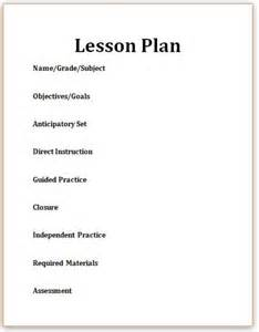 5 Step Lesson Plan Template by What Is A Lesson Plan Elementary Education Q And A
