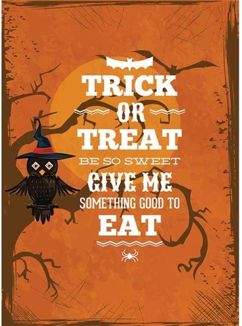vector owl sitting on tree orange halloween poster