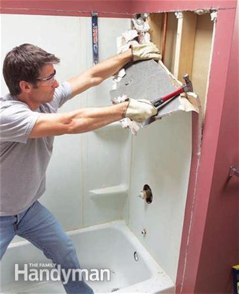installing an acrylic bathtub install an acrylic tub and tub surround the family handyman
