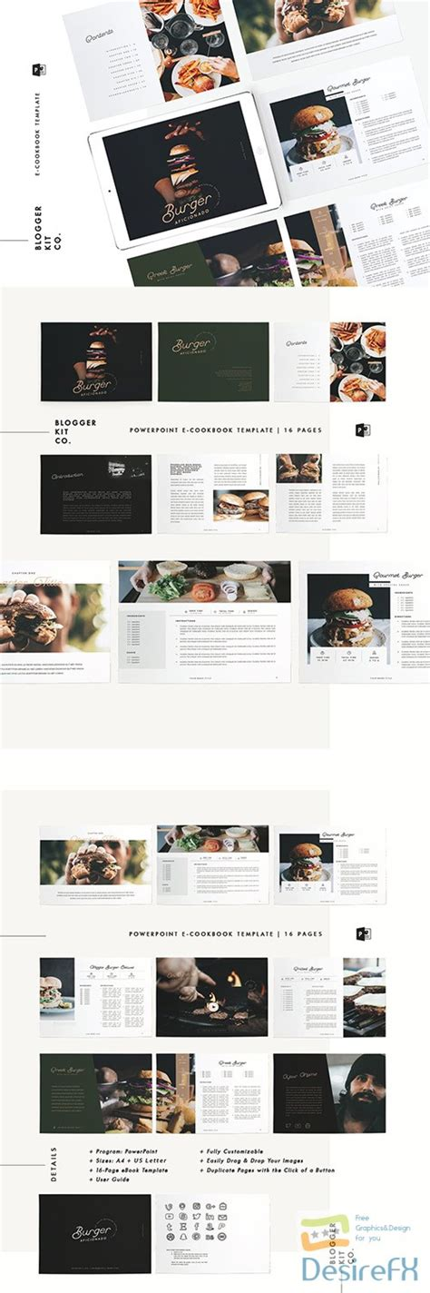 ebook cookbook template desirefx free powerpoint