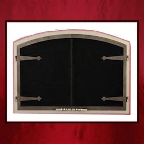 Custom Fireplace Screen Doors by Arch Door With Hinges Northshore