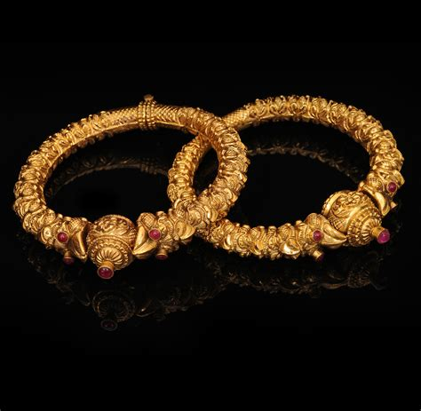 new gold on the design collection indian jewellery and clothing antique gold bangle