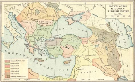 turkey ottoman empire map map of the growth of the ottoman turkish empire 1355 1683
