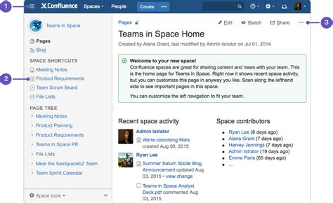 how to document product requirements in confluence