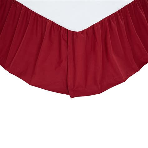 red bed skirt solid red twin bed skirt dust ruffle 39 quot x 76 quot x 16 quot