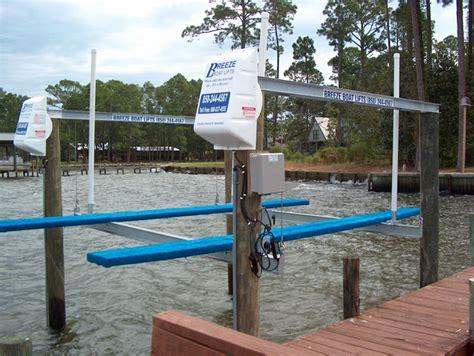 aqua marine supply boat lift motor top mount lifts breeze boat lifts