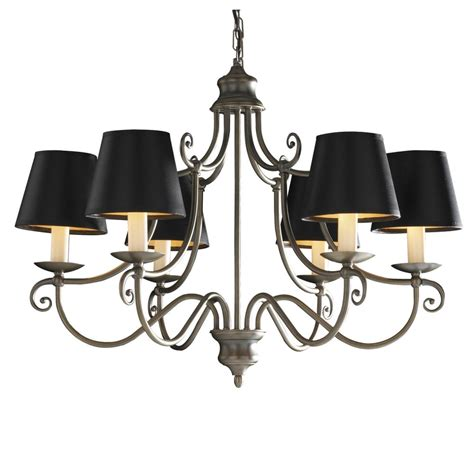 Chandelier With Black Shades Traditional Regency Style Chandelier Aged Brass With Black Shades