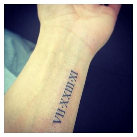 roman numeral date tattoo best 25 numeral font ideas on birthday