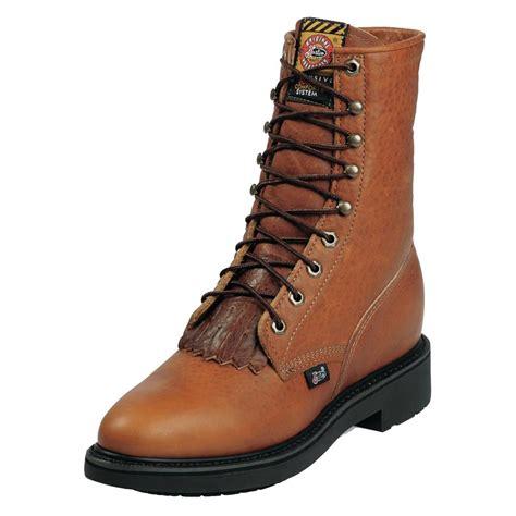 justin double comfort boots men s justin original work boots 8 quot double comfort medium