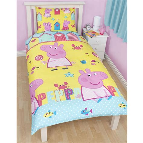 pig bedding peppa pig bedding bedroom decor duvets wall stickers