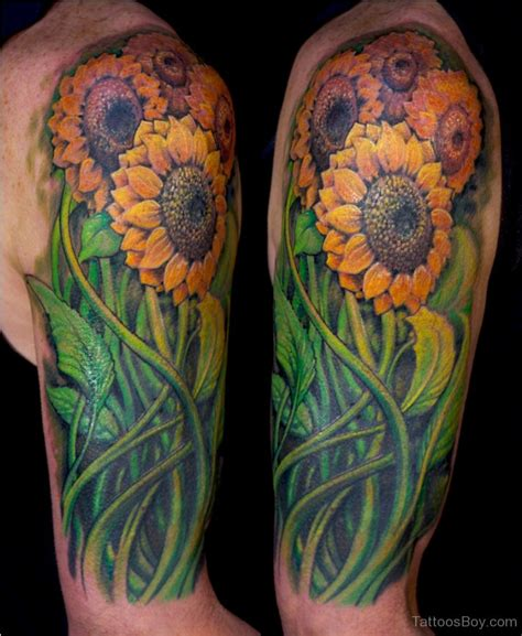 sunflower sleeve tattoo sunflower tattoos designs pictures page 2