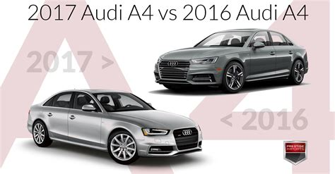 audi model comparison 2017 audi a4 vs 2016 audi a4 an insider s perspective