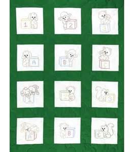 dempsey sted nursery quilt blocks cross stitch