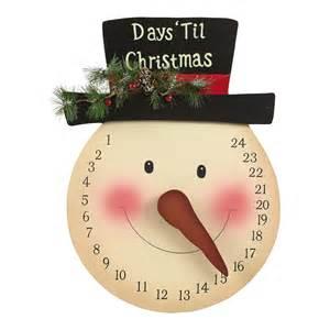 snowman christmas countdown clock christmas tree shops