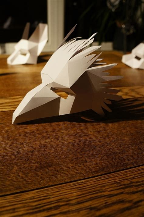 How To Make A 3d Mask Out Of Paper - still need a costume print these gorgeous