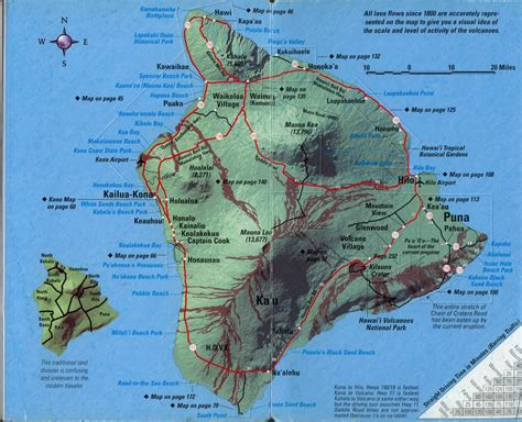 printable road map of big island hawaii hawaii the big island