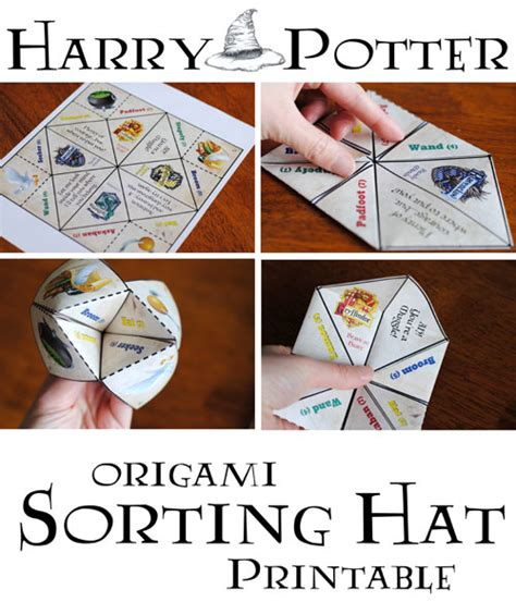 sorting hat place cards template harry potter origami sorting hat free printable