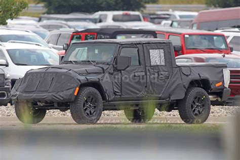 jeep truck spy photos the upcoming jeep pickup truck finally has a name