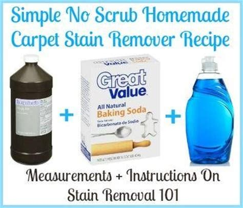 Rug Cleaner Recipe by Carpet Stain Remover Recipe Simple No Scrub