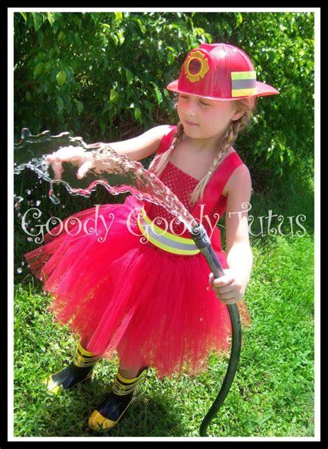 fireball firefighter inspired tutu dress   girls