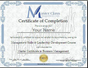 Best Post Mba Certifications by Business Management Certification Course Certificate Of