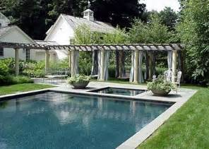 pool with pergola lawn and garden pinterest