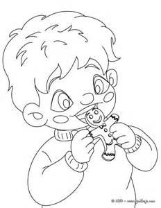 dibujos para colorear ni 241 o comiendo galletas de jengibre