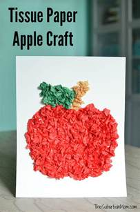 Tissue Paper Craft For - tissue paper apple craft for preschoolers