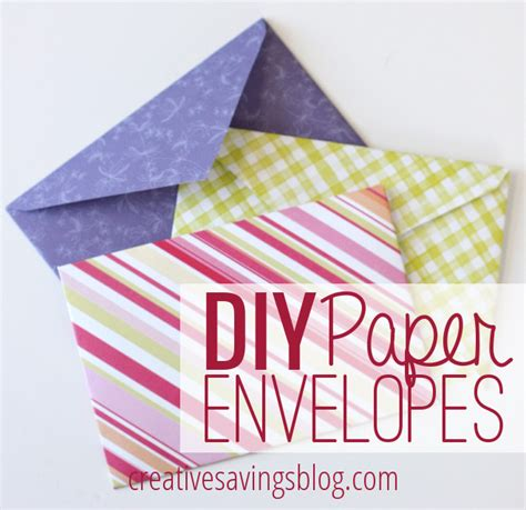 diy envelopes diy paper envelopes creative savings