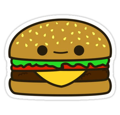Small Wall Stickers Uk quot yummy kawaii burger quot stickers by peppermintpopuk redbubble