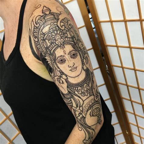 lakshmi tattoo designs 70 sacred hindu ideas designs packed with color