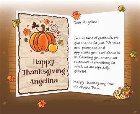 thanksgiving card to employees template thanksgiving cards for corporate business dussehra