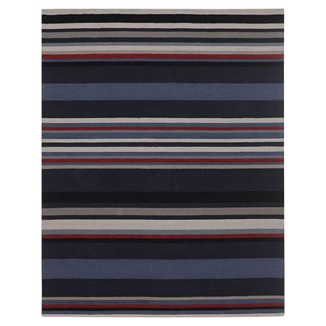 rug league league stripe rug navy pbteen