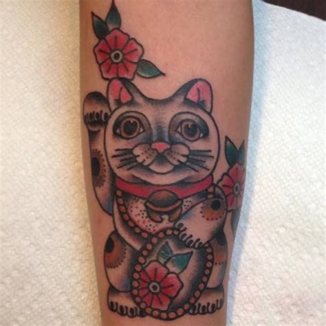lucky cat tattoo lucky cat traditional tattoos