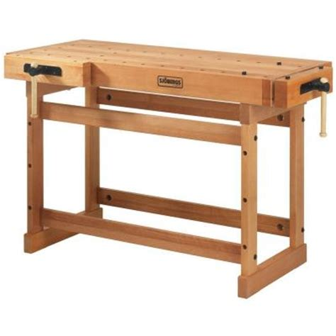 work benches home depot sjobergs scandi plus 4 ft workbench sjo 33280 the home