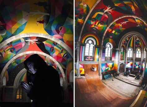 Kaos Colourful Skateboarding a 100 year church transformed into a skate park