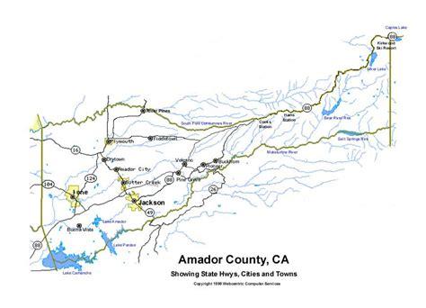 amador county california map web centric local links amador county calaveras county