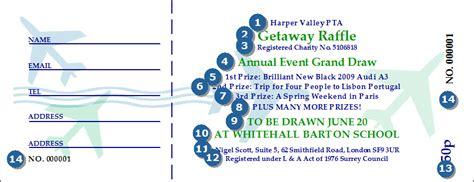 draw ticket template raffle ticket printing