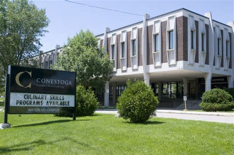 the entrance of waterloo cus at conestoga college