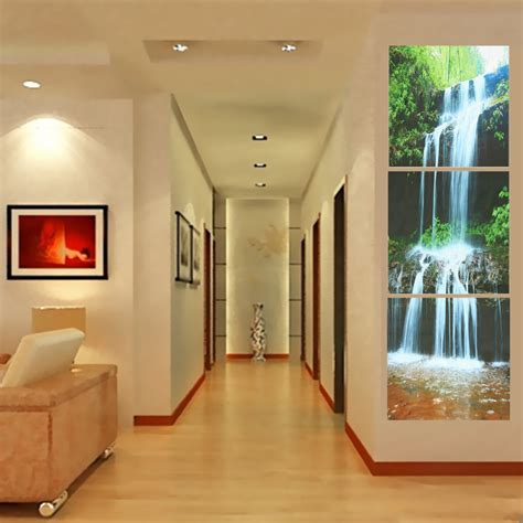 large framed for living room 3 cascade large waterfall framed print painting canvas wall picture home decorate living