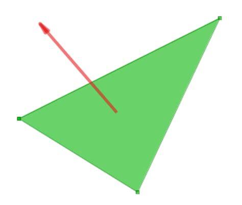 get normal vectors for custom mesh graphics