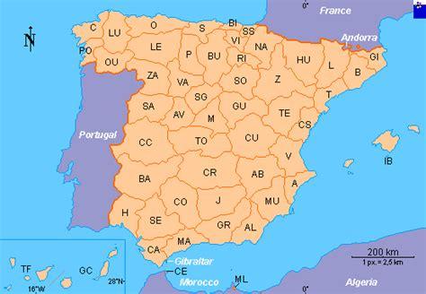 map of spain provinces clickable map of spain provinces