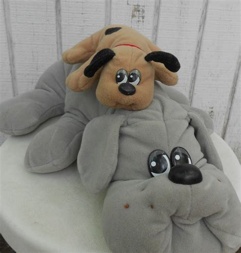 pound puppies toys 80s pound puppy set of two grey and by kerrilendo