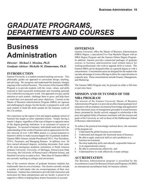 Gannon Mba Program by Gannon Graduate Catalog 2017 2018 By Gannon