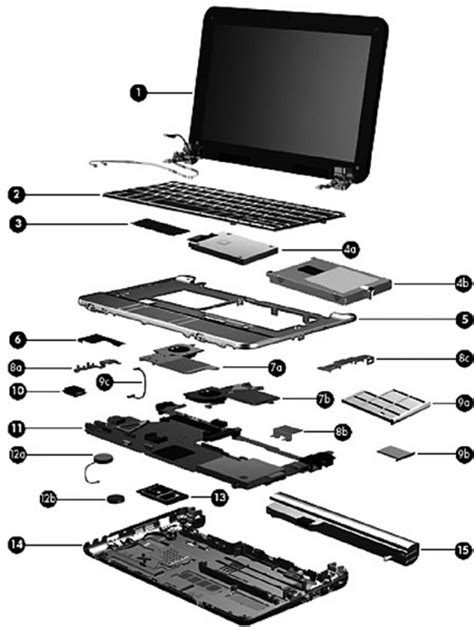 hp laptop parts diagram parts of a laptop computer diagram diagram of a guitar