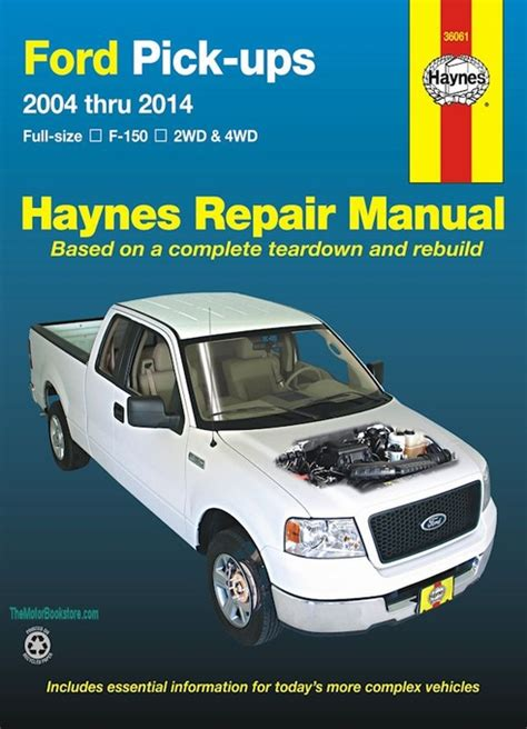 free auto repair manuals 1989 ford f series electronic throttle control ford f150 pickup truck repair manual 2004 2014 haynes 36061